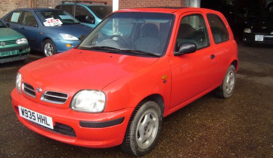 Nissan Micra Red 1.0 Ltr 3 Door 2000